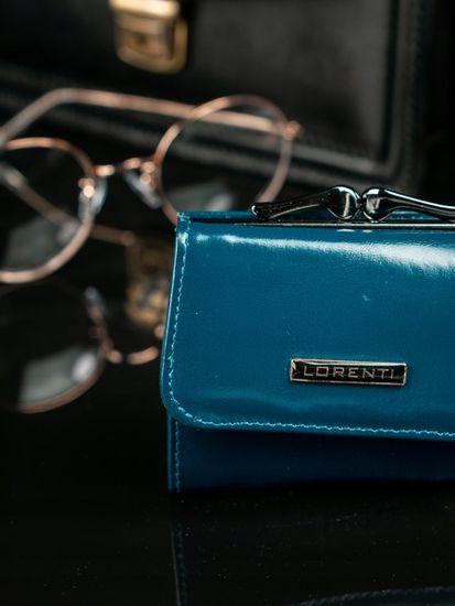 Lorenti Malinká klasická kožená peněženka Nika, modrá