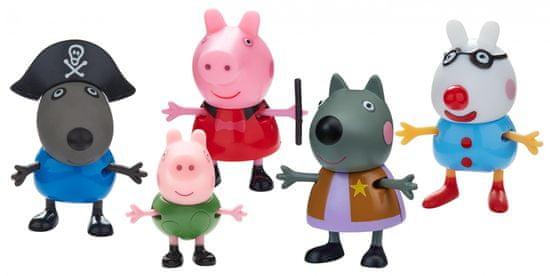 TM Toys Peppa Pig - Obleka z maskami, komplet 5 figur