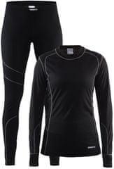 Craft Set Baselayer ženski športni komplet, črn/siv, XL