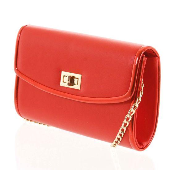 Michelle Moon Luxusní dámská psaníčko do ruky Zenone červená