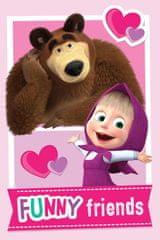 Jerry Fabrics Fleec takaró Mása és a medve barátai