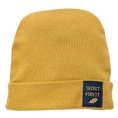 PINOKIO dětská čepice Secret Forest 56 žlutá