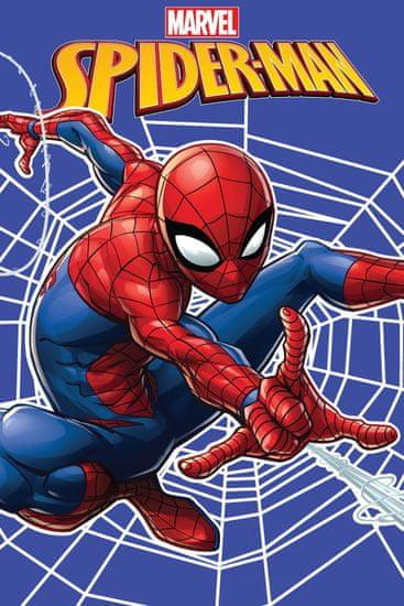 Jerry Fabrics Fleecová deka Spider-man pavoučí síť