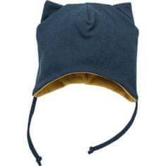 PINOKIO dětská čepice Secret Forest 56 tmavě modrá