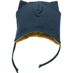 PINOKIO detská čiapka Secret Ferest 68 tmavomodrá