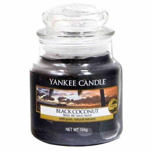 Yankee Candle Svíčka ve skleněné dóze , Černý kokos, 104 g