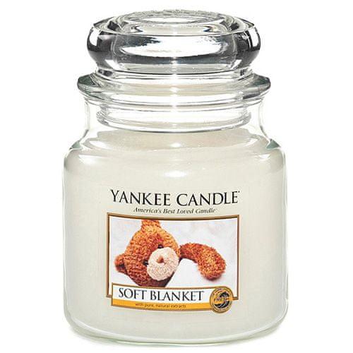 Yankee Candle Svíčka ve skleněné dóze , Jemná přikrývka, 410 g