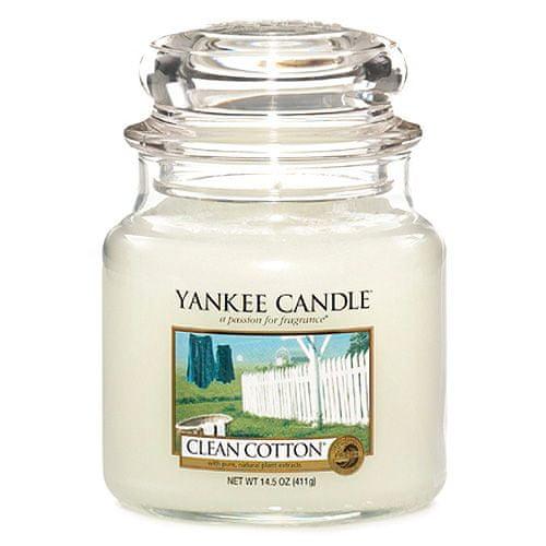 Yankee Candle Svíčka ve skleněné dóze , Čistá bavlna, 410 g