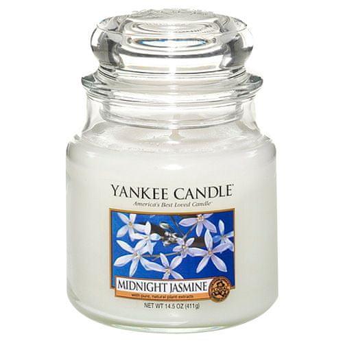 Yankee Candle Svíčka ve skleněné dóze , Půlnoční jasmín, 410 g