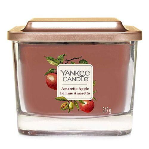 Yankee Candle Gyertya egy üvegváza Yankee gyertya, Amaretto almával, 347 g