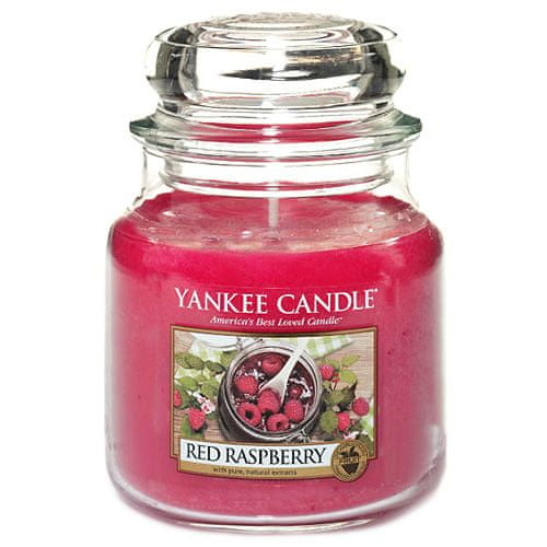 Yankee Candle Svíčka ve skleněné dóze , Červená malina, 410 g