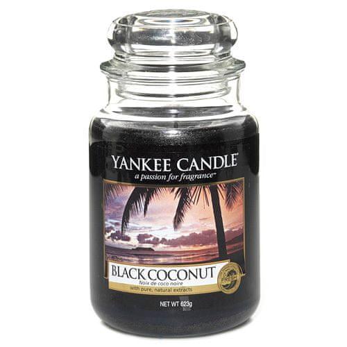 Yankee Candle Svíčka ve skleněné dóze , Černý kokos, 623 g