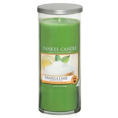 Yankee Candle Svíčka ve skleněném válci , Vanilka s limetkami, 566 g