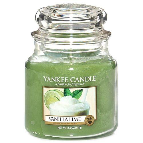 Yankee Candle Svíčka ve skleněné dóze , Vanilka s limetkami, 410 g