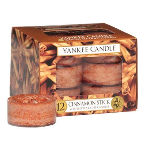 Yankee Candle Svíčky čajové , Skořicová tyčinka, 12 ks