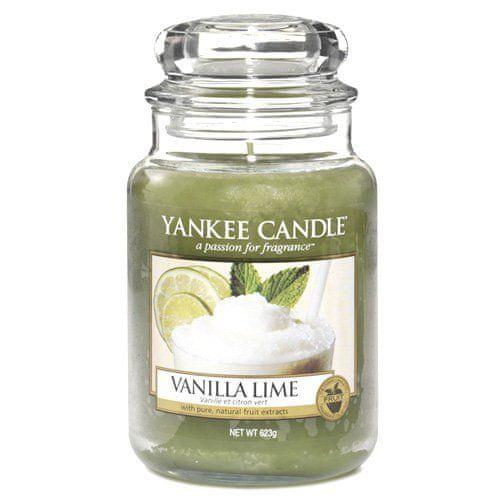 Yankee Candle Svíčka ve skleněné dóze , Vanilka s limetkami, 623 g