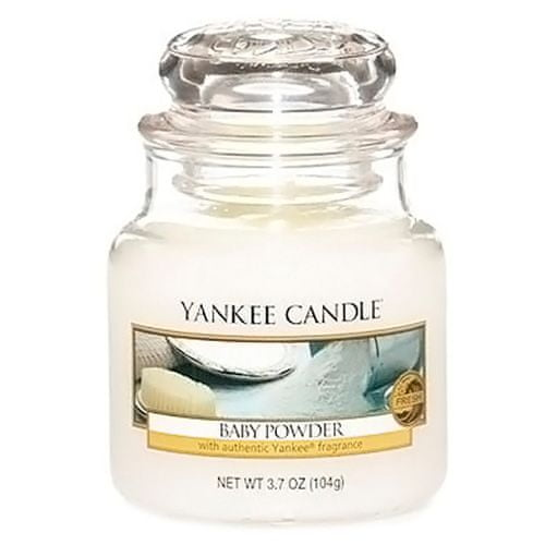 Yankee Candle Svíčka ve skleněné dóze , Dětský pudr, 104 g