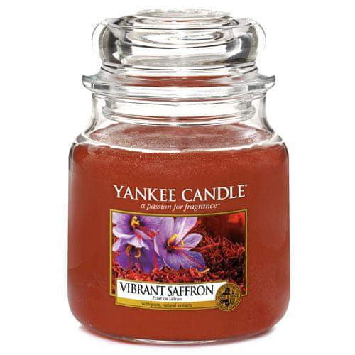 Yankee Candle Svíčka ve skleněné dóze , Živoucí šafrán, 410 g