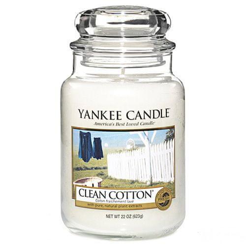 Yankee Candle Svíčka ve skleněné dóze , Čistá bavlna, 623 g