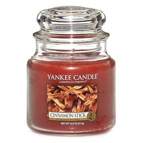 Yankee Candle Svíčka ve skleněné dóze , Skořicová tyčinka, 410 g
