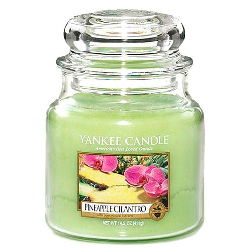 Yankee Candle Svíčka ve skleněné dóze , Ananas s koriandrem, 410 g