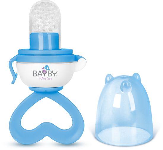 BAYBY BBA 6403 Dudlík krmící modrý 4m+