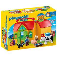 Playmobil Moja prva prenosna kmetija , 1.2.3, 17 kosov