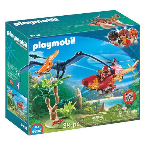 Playmobil Helikopter z pterodaktylem , Dinozaury, 39 sztuk