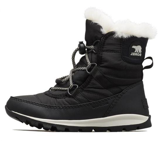 Sorel Youth Whitneyshort Lace dekliški škornji, 4,5, črni - Odprta embalaža