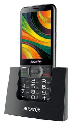 Aligator A900 GPS Senior, černý + stolní nabíječka