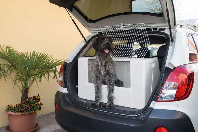 IMAC Přepravka do auta pro psa plastová, šedá 89x53x50 cm