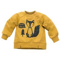 PINOKIO bluza dziecięca Secret Forest 80 żółty