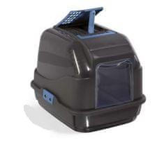 IMAC Krytý kočičí záchod z recyklovaného plastu s uhlíkovým filtrem, černý 50x40x40 cm