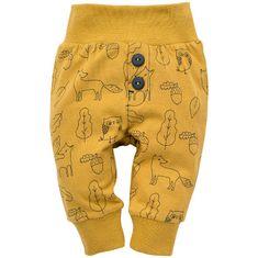 PINOKIO detské nohavice Secret Forest 62 žltá