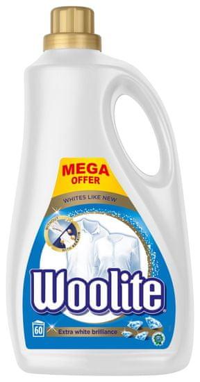 Woolite Extra White Brillance tekoči detergent 3.6 l / 60 pralnih odmerkov