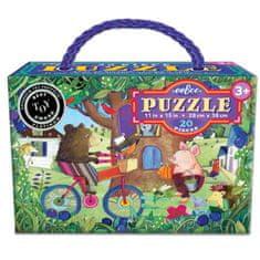 eeBoo Puzzle Medvěd na kole - 20 dílků