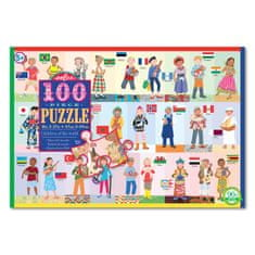 eeBoo Puzzle - Děti z celého světa 100 dílků