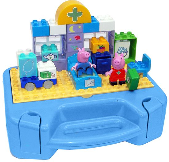 BIG PlayBig BLOXX Peppa Pig - svinja Pepa, komplet sa koferom