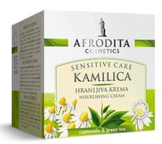Kozmetika Afrodita Kamilica Sensitive, hranljiva krema, za suho in občutljivo kožo, 50 ml