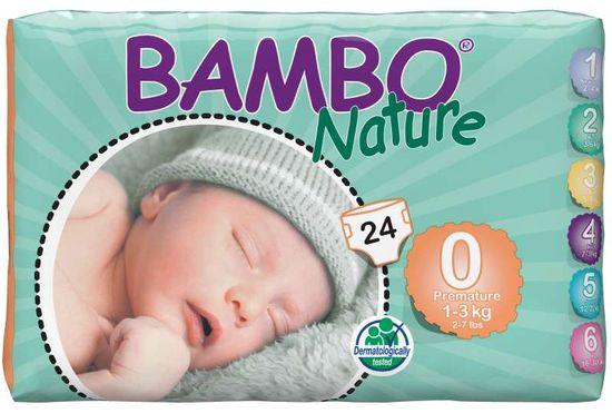 Bambo Nature Dječje pelene hlače 0 Premature (1-3 kg), 24 komada
