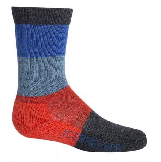 Icebreaker dětské MERINO ponožky HIKE 35,5 - 37,5 vícebarevná
