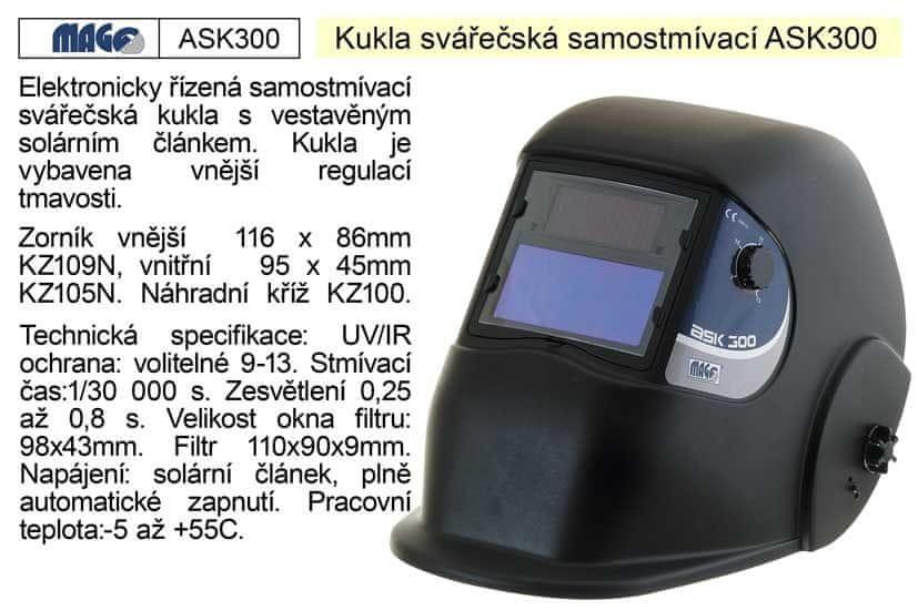 MAGG Svářecí kukla samostmívací ASK 300