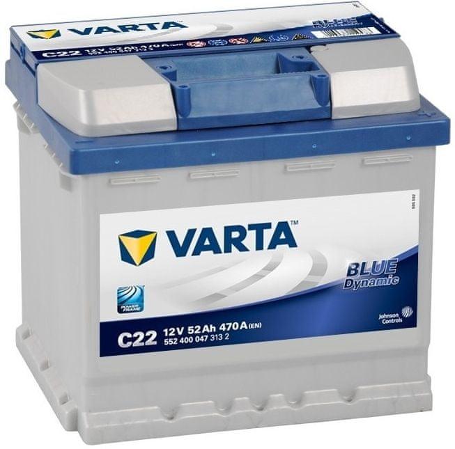 varta Autobaterie Varta Blue Dynamic 12V 52Ah 470A, 552 400 047, 552400047