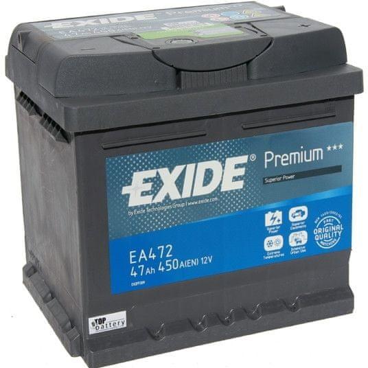 EXIDE Exide Premium 12V 47Ah 450A EA472