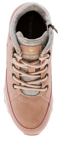 Iguana dekliški zimski čevlji LOMI MID JRG POWDER PINK/BEIGE