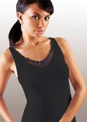 Dámská košilka Ailin plus black, černá, 4XL