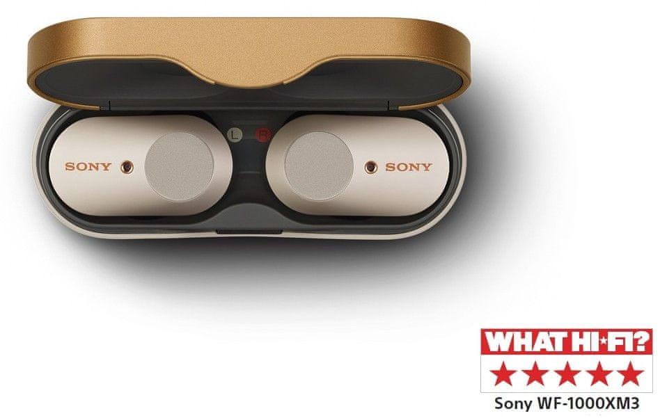 Sony WF-1000X M3 bezdrátová sluchátka, stříbrná