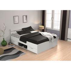 IDEA nábytek Multifunkční postel 140x200 MICHIGAN perleťově bílá