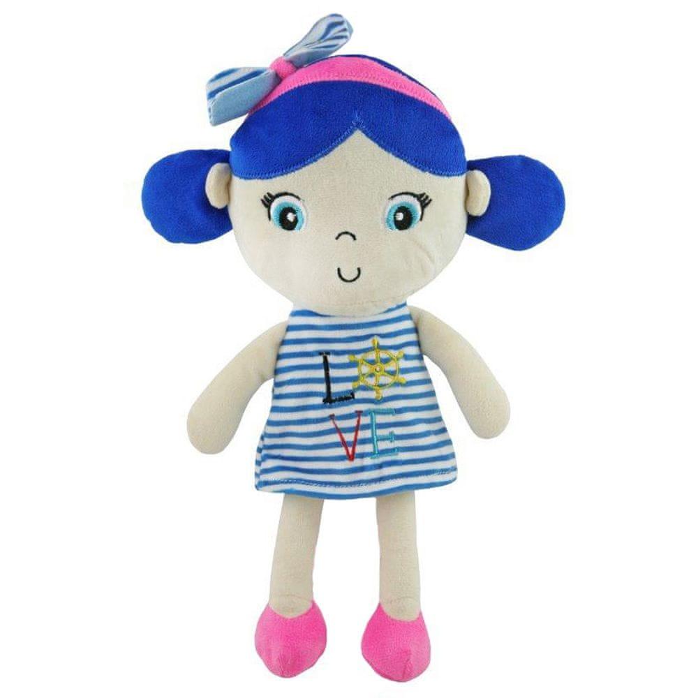 Baby Mix Edukační plyšová panenka Baby Mix námořník holka blue
