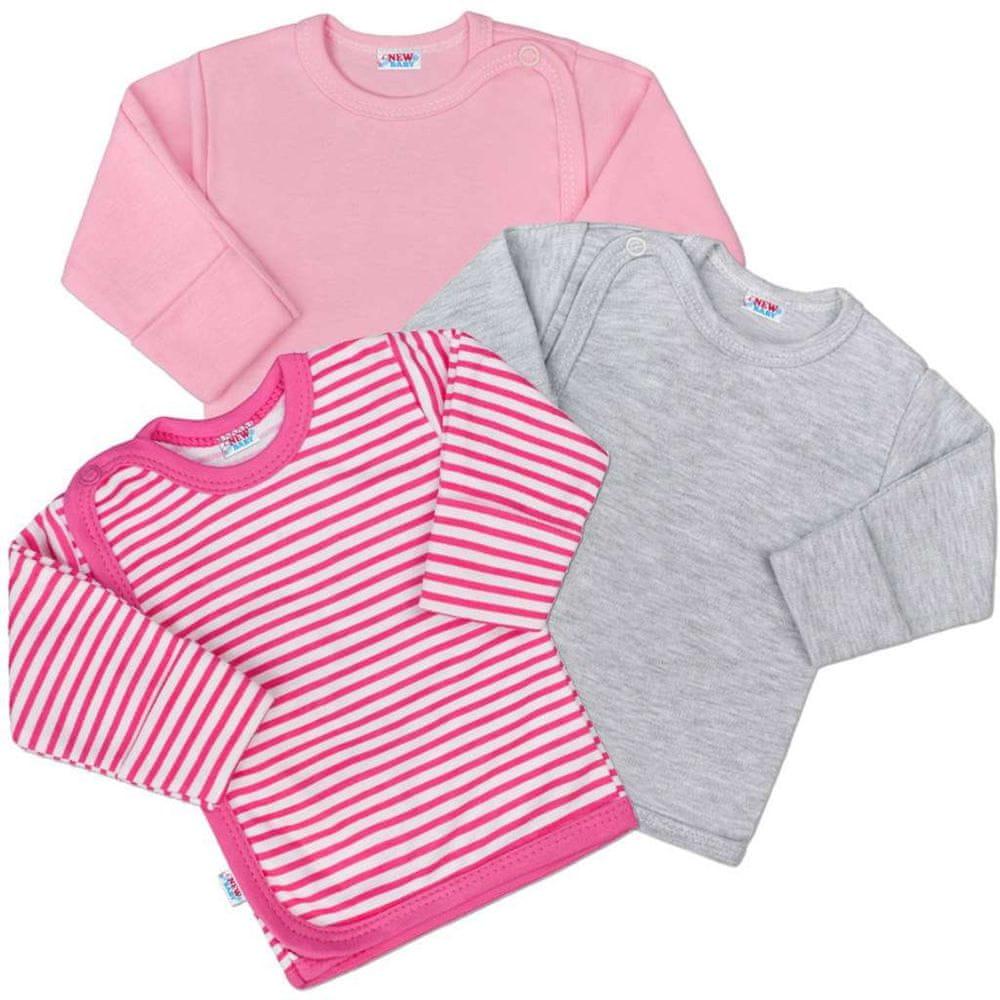 NEW BABY Kojenecká košilka New Baby Classic II Holka 3ks - 56 (0-3m)